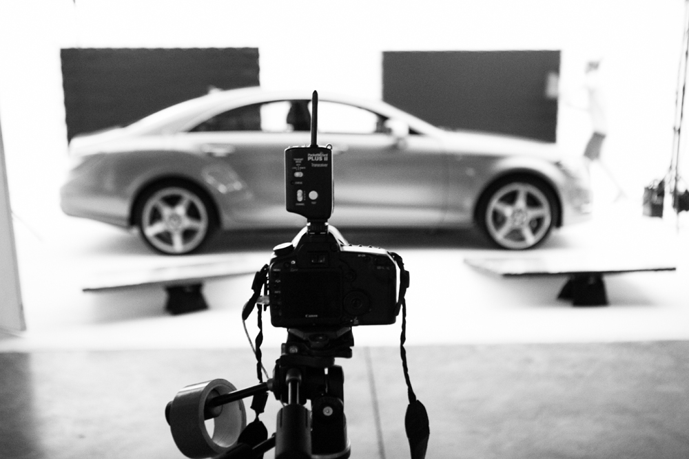 Mercedes-Benz car photography Drive-In Studio Cape Town