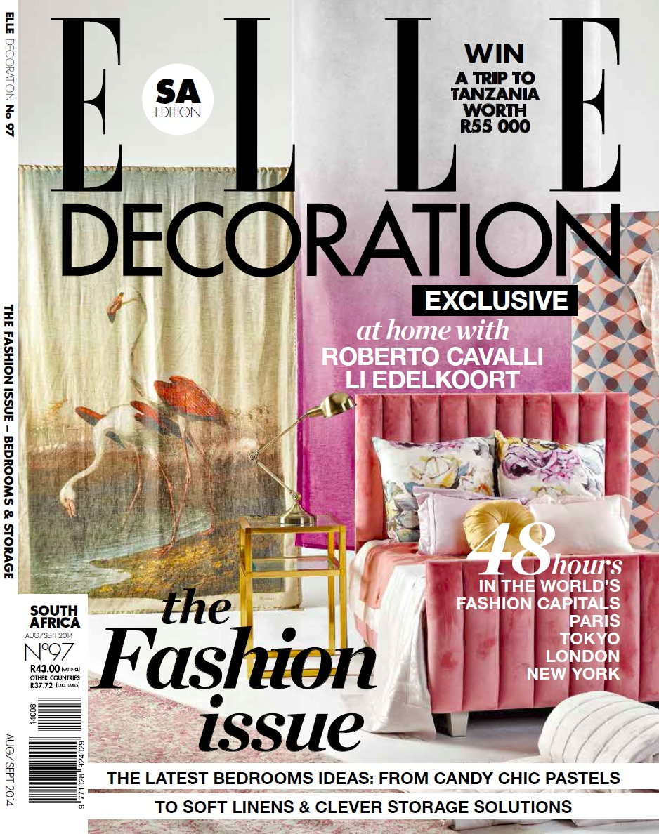 Elle Decoration Cover shot by Justin Patrick at Roodebloem Studios