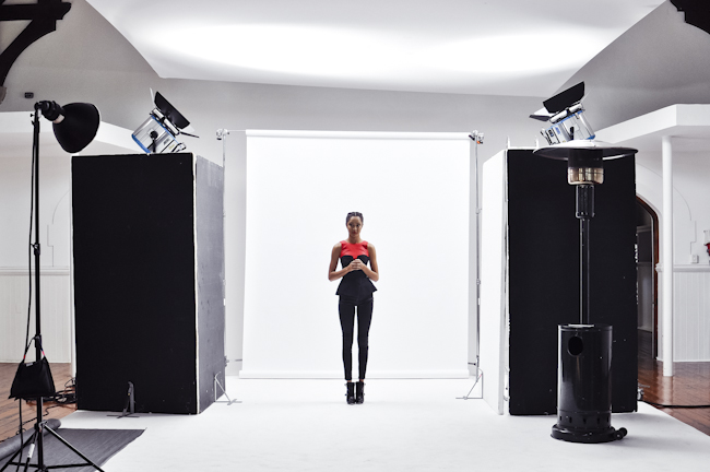 Elle leather photo shoot model roodebloem studios